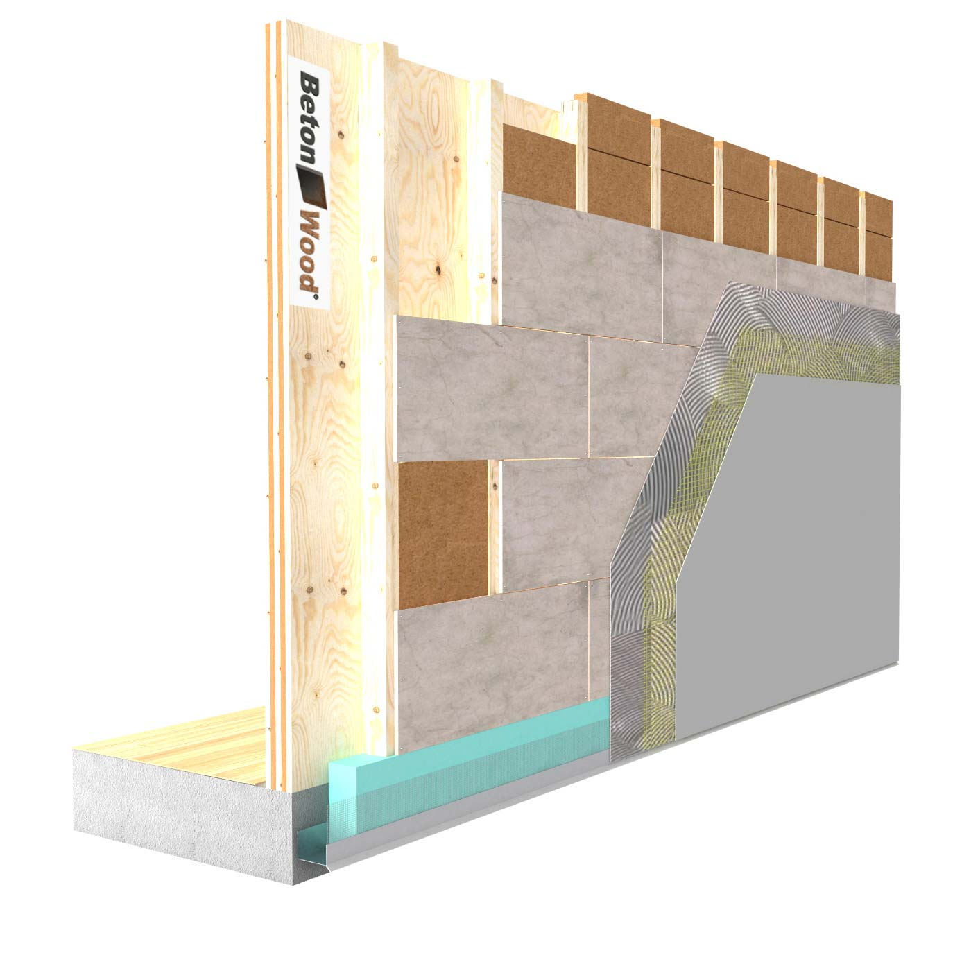 External insulation system with Therm SD fiber wood on wooden walls