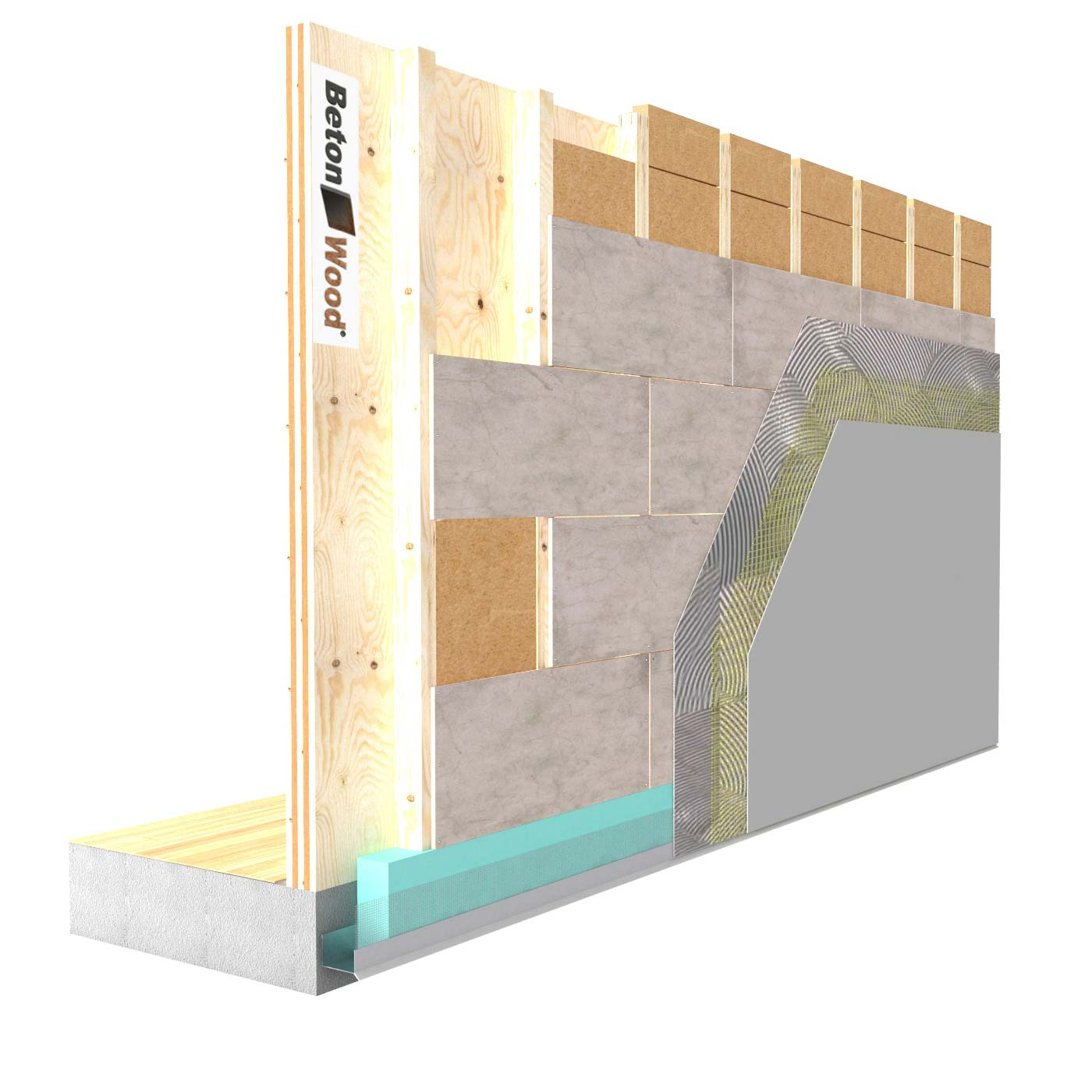External insulation system with Therm dry fiber wood on wooden walls