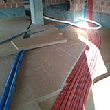 Dry screed with FiberTherm Fiber Wood Insulation