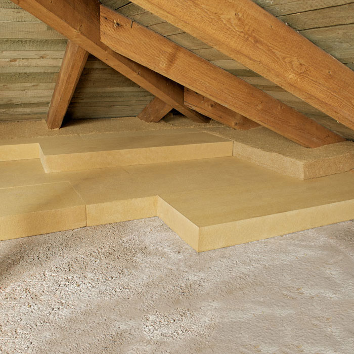 Fiber Wood Insulation density 110 kg/mc for roofs and attics