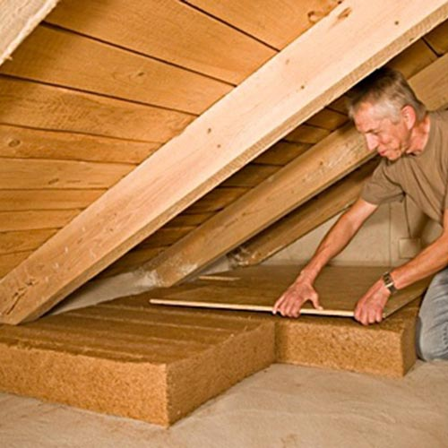 Fiber Wood Insulation FiberTherm Roof dry for extrados of floors