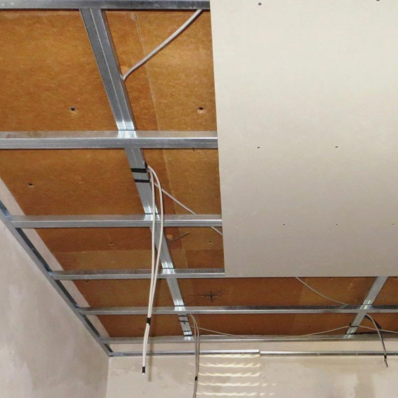 Fiber Wood Insulation FiberTherm SD installed as insulating ceiling